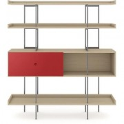 BDI Margo Shelf Drift Oak w/ Cayenne Door
