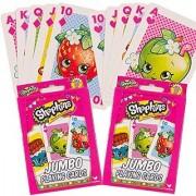 Shopkins Playing Cards -- Set of 2 Decks Jumbo Shopkins Card Game for Kids
