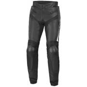 Büse Dervio Pantalones de cuero moto Negro Blanco 48