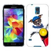 Husa Samsung Galaxy S5 Mini G800F Silicon Gel Tpu Model Caine Motociclist