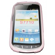 Силиконов гръб ТПУ за Samsung S7710 Galaxy Xcover 2 Розов