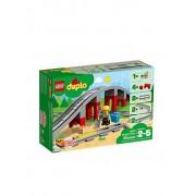 Lego Duplo - Eisenbahnbrücke und Schienen 10872