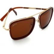 PREVIO Retro Square Sunglasses(Brown)