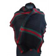NEW BERRY dámská pletená šála / pléd BC717 černá