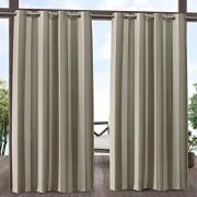 Exclusive Home Curtains Cortinas exclusivas para el hogar con diseño de Rayas, 2 Unidades, Gris Pardo y Arena, 54x96, 1, 1