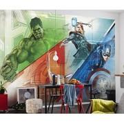 Komar 8-456 Disney Multicoloured Avengers Graphic Art Wallpaper