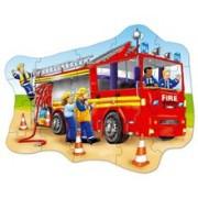 Puzzle De Podea - Masina De Pompieri (20 Piese) - Orchard Toys (258)