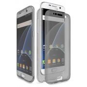 Husa Full TPU 360 (fata spate) pentru Samsung Galaxy S7 Edge Gri transparent