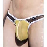 Mategear Nan Song XV Tapered Sides V Front Mesh Series Ultra Pouch Bikini Swimwear Yellow 1740402