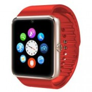 Ceas Smartwatch cu Telefon iUni GT08s Plus BT 1.54 inch Rosu Bonus Bratara Roca Vulcanica unisex