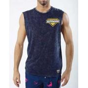 Supawear Racer Muscle Top T Shirt Navy
