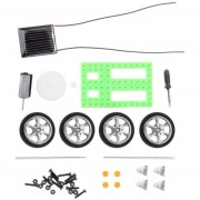 ER 1Pcs Mini Juguete Solar DIY De Coches Niños Educativo Puzzle IQ Manía Del Adminículo Del Robot Verde