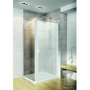 Schulte Home Paroi latérale pour porte de douche pivotante 80 cm, profilé blanc, anticalcaire