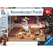 PUZZLE VIATA SECRETA A ANIMALELOR 2x24 PIESE Ravensburger