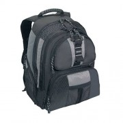 Targus Mochila deportiva para laptop de 15.4 pulgadas, negro con detalles en gris (TSB212)