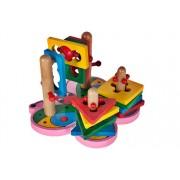 Puzzle educativ din lemn - Fluture sortator 3D - MalPlay