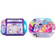 Pachet My Little Pony - Set de colorat portabil + Mega set de colorat 5 in 1