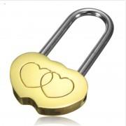1 STHangslot Liefde Lock Gegraveerde Dubbele Hart Valentines Anniversary Dag Geschenken SOLUTIONL