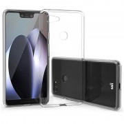 Capa de TPU Saii Premium Anti-Slip para Google Pixel 3 XL - Transparente