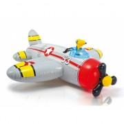 Vliegtuigje grijs met waterpistool 132 cm