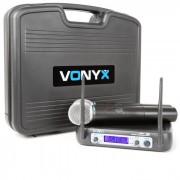 Vonyx WM521 Sistema de radio VHF de 2 canales Incl. maleta de transporte (179.226)
