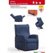 Il Benessere Poltrona Relax Astra con Due Motori Alzapersona e Kit Roller Ampia scelta Tessuti Prodotto Italiano