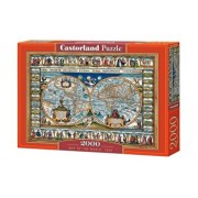 Puzzle Harta Lumii din 1639, 2000 piese