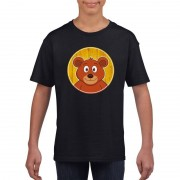 Bellatio Decorations Dieren beer shirt zwart jongens en meisjes