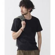異素材切り替えTシャツ S/S【ナノ・ユニバース/nano・universe メンズ Tシャツ・カットソー ブラック ルミネ LUMINE】