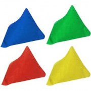 GSI Pack of 4 Multicolour Pyramid Toss Bean Bags for Activity Games