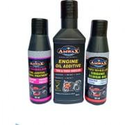 AMWAX FUEL ADDITIVE 50 ML + ENGINE OIL ADDITIVE 50 ML + ENGINE FLUSH OIL 50 ML