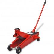 vidaXL Low-Profile Hydraulic Floor Jack 3 Ton Red