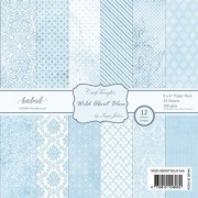"""CrafTangles Scrapbook and Craft Paper Pack - Wild About Blue (Size 6""""X6"""") 12 Designs 24 Sheets For Card & Scrapbooking"""