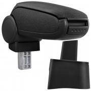 [pro.tec] Márkaspecifikus kartámasz / könyöklő autóba - Seat Ibiza Typ 6L modellhez - szövet - fekete