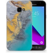 Samsung Galaxy Xcover 4 TPU Hoesje Design Marble Blue Gold