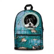 Canvas Backpack for Teens Girls School Bag Dog Animal Book Shoulder Bag Children