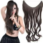 Flip in vlasy - vlnitý pás vlasů - odstín 6 - Světové Zboží