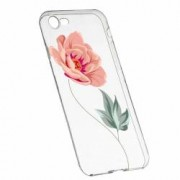 Husa Silicon Transparent Slim Rose 127 Apple iPhone 6 6S