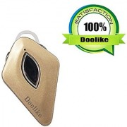 Bluetooth Headset Doolike Gold Color Compact Wireless Bluetooth Earphone Earbuds with Mic Compatible for Phones Tablets and other Bluetooth enable devices.