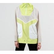 adidas x Stella McCartney Adizero Half Zip Jacket Clear Brown/ Semi Frozen Yellow/ White