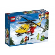 Set de constructie LEGO City Elicopterul ambulanta