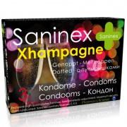 Saninex condoms xhampagne punteado 3 uds