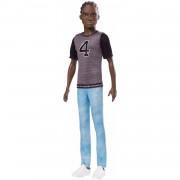 Barbie Mattel- Barbie Fashionista-Muñeco Ken afroamericano con Camiseta Los Ángeles