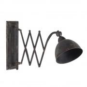 Maisons du Monde Lámpara de pared orientable efecto envejecido de metal negro FARMINGTON