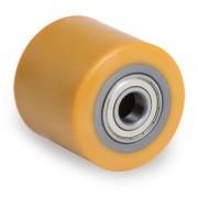 uretán raklapemelő béka görgő átmérő: 80mm szélesség: 50mm válaszható tengely átmérő: 17, 20, 25mm