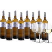Wijnpakket Casa Safra Verdejo 8 flessen + 4 glazen