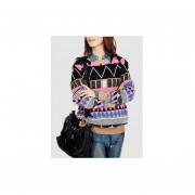 Suéter de estilo hermoso y comodo de escote redondo color rosa