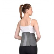 Kudize Lumbar Sacral (L.S.) Belt Contoured Spinal Brace Mild Lower Back Support Grey - XXL(44 to 48 cm or 110 to 120 cm)