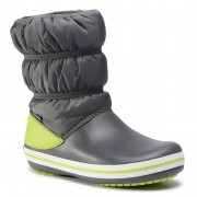 Cizme de zăpadă CROCS - Crocband Winter Boot K 206550 Slate grey/Lime Punch