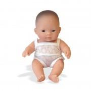 Papusa bebelus fetita asiatica 21 cm